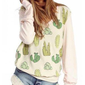 Wildfox Desert Cactus V Neck Jumper XS